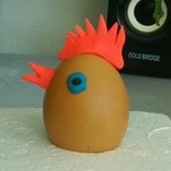 幼儿园小公鸡手工制作 橡皮泥做小鸡的教
