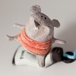 低温瓷烧制的陶偶作品 治愈系手工陶偶图片欣赏