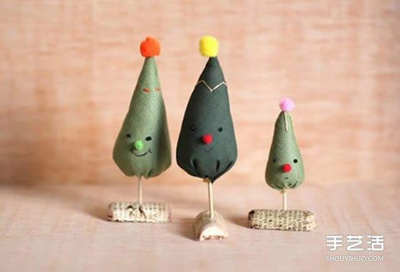 不织布迷你圣诞树DIY 手工布艺自制圣诞树图解 -  www.shouyihuo.com
