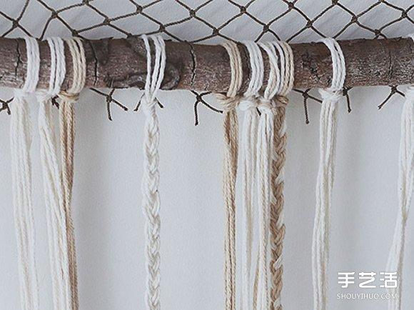 三角形捕梦网的制作方法 简单自制捕梦网图解 -  www.shouyihuo.com