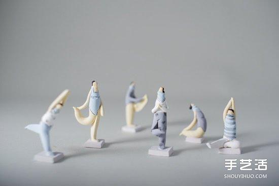 低温瓷烧制的陶偶作品 治愈系手工陶偶图片欣赏 -  www.shouyihuo.com
