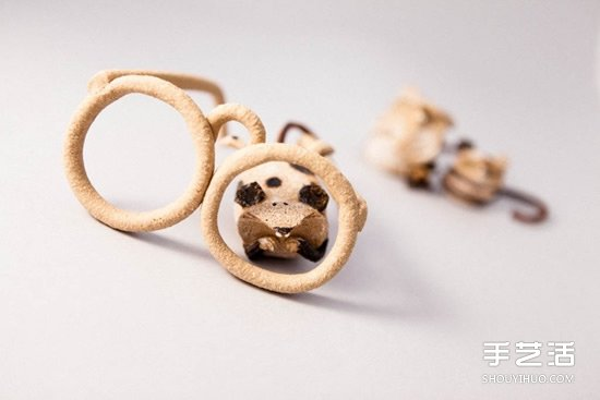 低溫瓷燒制的陶偶作品 治癒系手工陶偶圖片欣賞