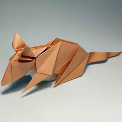 立体老鼠的折纸方法 十二生肖老鼠的折法