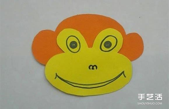 简单卡纸猴子头饰制作 幼儿猴子帽子的做法 -  www.shouyihuo.com