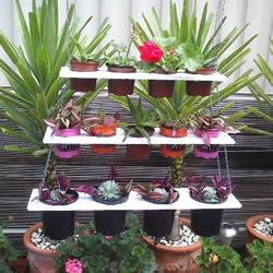 木质花架制作方法图解 自制多层花盆架子