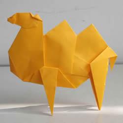 如何折纸骆驼图解教程 双峰骆驼的折法步