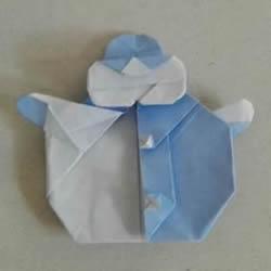 如何折纸雪人的教程 手工折雪人的折法图解