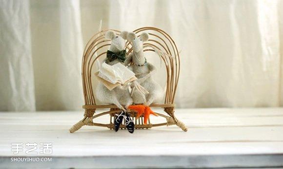 温暖人心的手作:可爱系羊毛毡小动物作品图片 -  www.shouyihuo.com