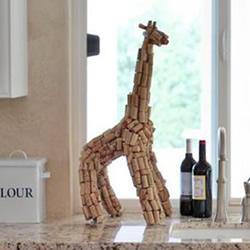幼儿手工制作长颈鹿 红酒瓶塞DIY长颈鹿教程
