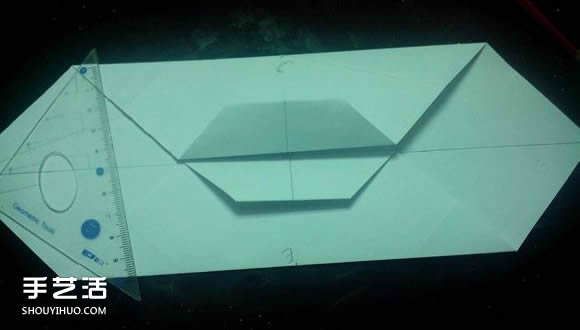 手工折纸漂亮盒子图解 带纸鹤包装盒子折法 -  www.shouyihuo.com