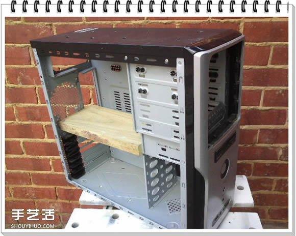 舊電腦機箱DIY花架 電腦主機製作花架的方法