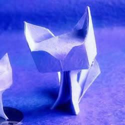 焰尾方块猫折纸教程 折纸方块猫的折法图解