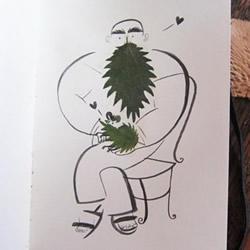 创意树叶贴画贺卡DIY 把画画和树叶融为一体