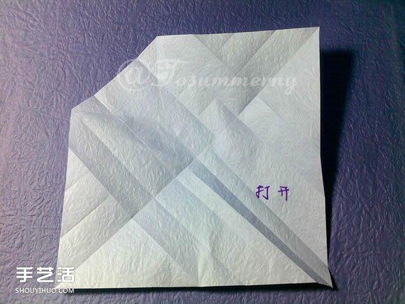 焰尾方塊貓摺紙教程 摺紙方塊貓的折法圖解