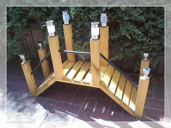 自製花園旱橋的教程 手工製作小橋的方法