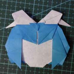 手工折纸女生头像图解 短发女孩的折法步