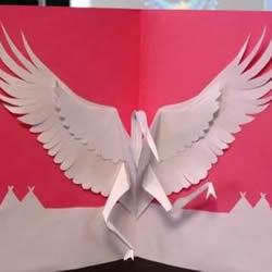 纸鹤贺卡的制作方法 自制立体纸鹤贺卡教