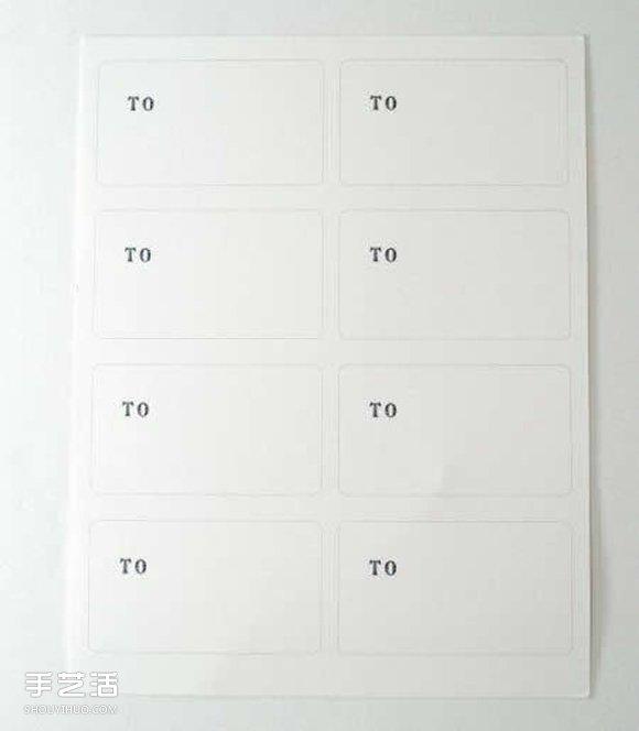 礼物包装标签制作方法 简易礼物标签DIY教程 -  www.shouyihuo.com