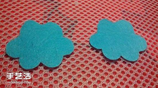 丑萌布藝雲朵書籤製作 不織布雲朵書籤的做法
