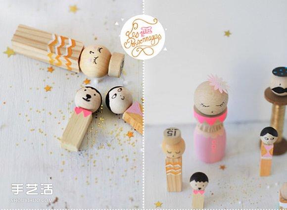 日本娃娃小芥子手工制作 自制可爱小木偶的方法 -  www.shouyihuo.com