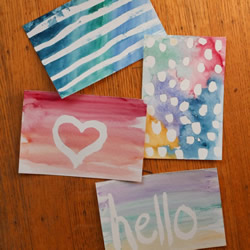 手绘水彩明信片教程图解 水彩明信片的制