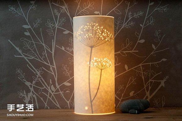 唯美手工纸皮灯制作 花鸟图案雕刻纸灯diy 手艺活网
