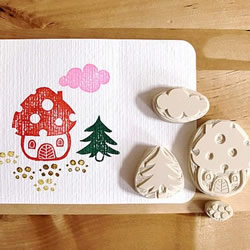 可爱小清新橡皮章素材 橡皮章图案简单可爱