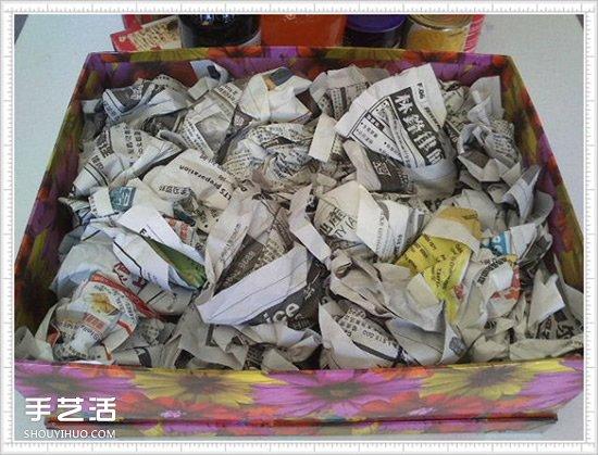 礼品篮的制作方法图解 自制礼品篮DIY教程 -  www.shouyihuo.com