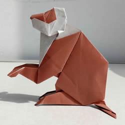手工折纸短尾猴图解 详细短尾猴的折法步
