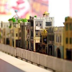 精致的骑楼模型作品 骑楼建筑模型图片欣