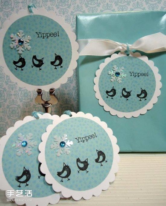 纸质包装箱_精美礼品包装标签图片 手工礼物盒标签DIY_手艺活网