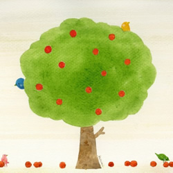 井上瞳:颜色淡雅、充满童趣的小清新水彩画