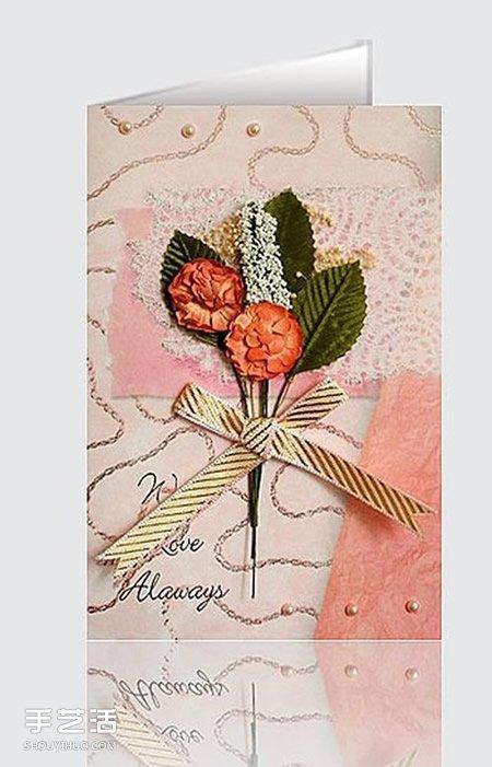 创意手工生日卡片_干花制作贺卡封面图片 简单美丽的贺卡干花封面_手艺活网