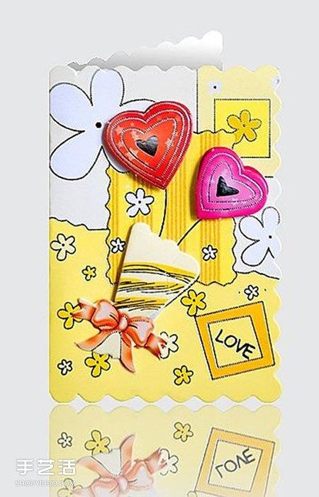 创意手工贺卡封面_情人节贺卡怎么做图片 手工情人节卡片素材_手艺活网
