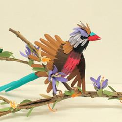 逼真的手工纸鸟图片 让你置身鸟语花香的世界
