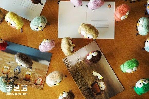 愤怒的小鸟手工制作图片 治愈系羊毛毡小鸟作品  -  www.shouyihuo.com