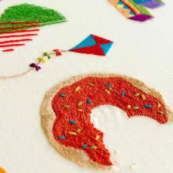 色彩明艳的手工刺绣图案欣赏 非常疗愈!