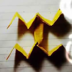 水瓶座和天秤座天文符号的折纸方法图解