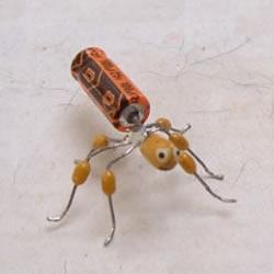 电路板电子元件变废为宝 DIY手工制作小蜘