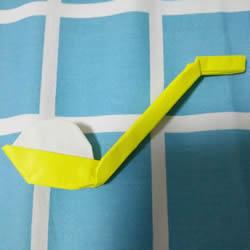 折纸元宵的折法图解教程 包括盛元宵的勺