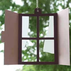 剪纸窗户小挂件手工制作 创意窗户风铃