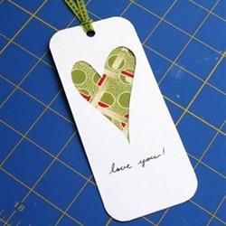 送情人的爱心书签DIY 自制情人节书签图解