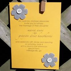 简约婚礼邀请卡模板 创意手工婚礼邀请卡