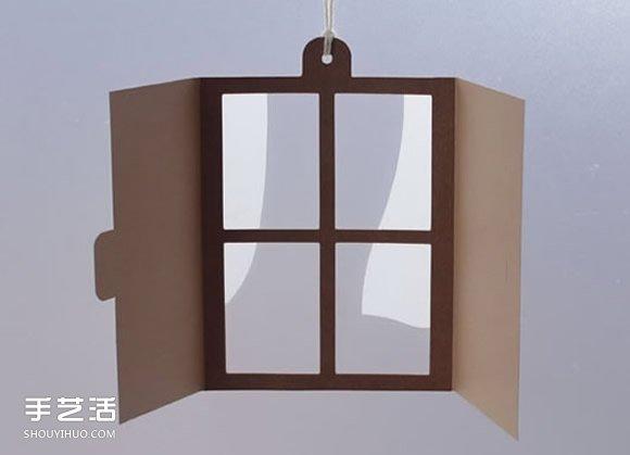 剪纸窗户小挂件手工制作 创意窗户风铃DIY图解 -  www.shouyihuo.com