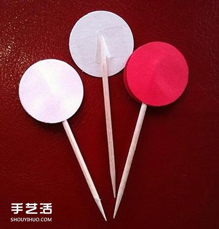 蛋糕上的装饰标签DIY 自制蛋糕爱心标签图解 -  www.shouyihuo.com