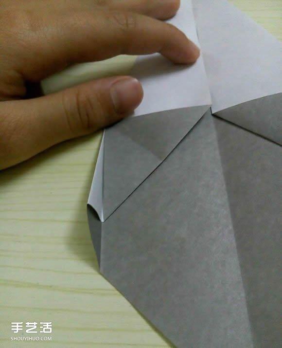摺紙摺疊小刀的折法 手工折可摺疊彈簧刀圖解