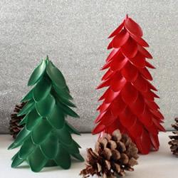 一次性勺子DIY手工制作立体圣诞树的教程