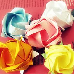 复杂玫瑰花的折法图解 玫瑰花折叠方法步