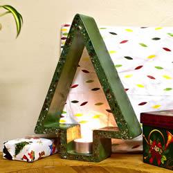 混凝土圣诞节烛台DIY 自制圣诞烛台用水泥