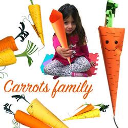 幼儿园胡萝卜手工制作 简单纸胡萝卜的做